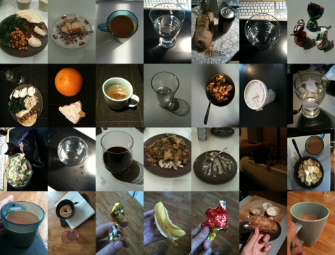 28 photos of food consumed in 3 days